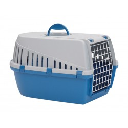 Cage de transport Chien Chat TROTTER BLEUE