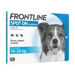 Solution SPOT-ON M Chien 6 pip. - Frontline