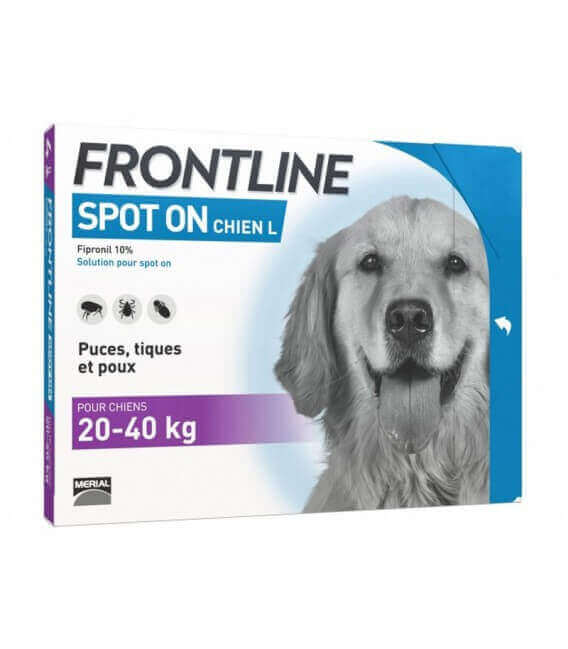 Solution SPOT-ON L Chien 6 pip. - Frontline