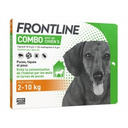 FRONTLINE COMBO Petit Chien S 2-10 kg Spot-on 6 pipettes