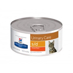Pâtée S/D URINARY CARE Chat 24x156g - Prescription Diet