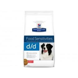 Croquettes D/D FOOD SENSITIVITIES SAUMON & RIZ Chien Sac 12 kg - Prescription Diet