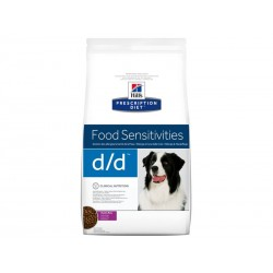 Croquettes D/D FOOD SENSITIVITIES CANARD & RIZ Chien Sac 12 kg - Prescription Diet