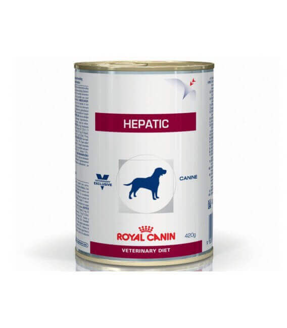 Pâtée HEPATIC Chien 12x420g - Veterinary Health Nutrition