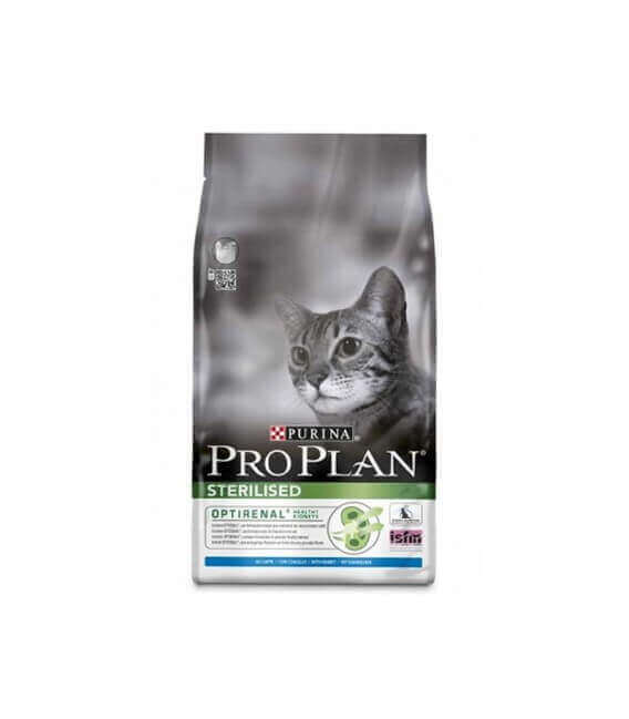 Croquettes STERILISED OPTIRENAL LAPIN Chat Sac 3 kg - Pro Plan