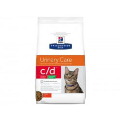 Croquettes C/D URINARY STRESS REDUCED CALORIE POULET Chat Sac 8 Kg - Prescription Diet