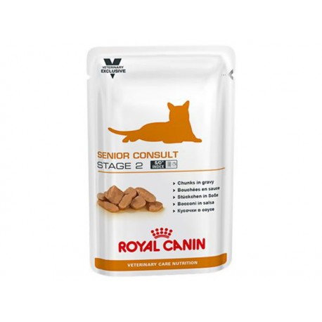 Veterinary Care Nutrition Chat SENIOR CONSULT STAGE 2 Sachets 12 X 100 g
