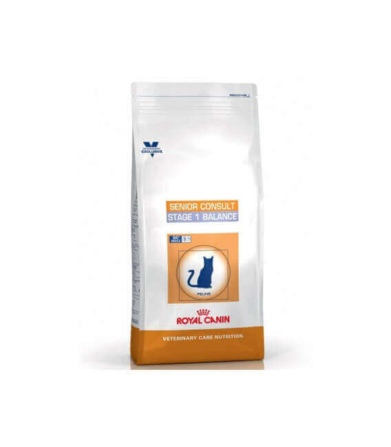 Croquettes SENIOR CONSULT STAGE 1 Chat Sac 10 kg - Veterinary Care Nutrition