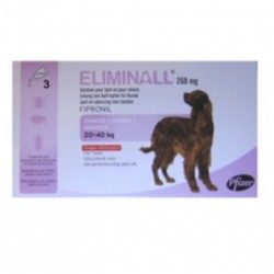 ELIMINALL 268MG CHIEN 20/40KG 3 PIP.