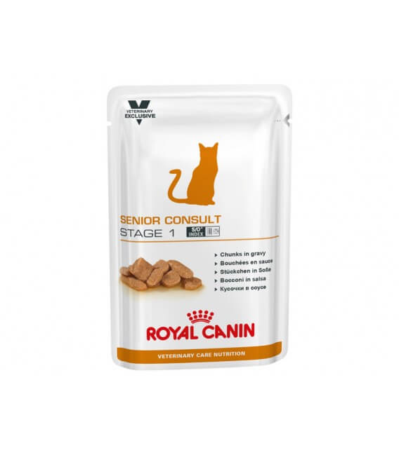 Pâtée SENIOR CONSULT STAGE 1 Chat 12x100g - Veterinary Care Nutrition