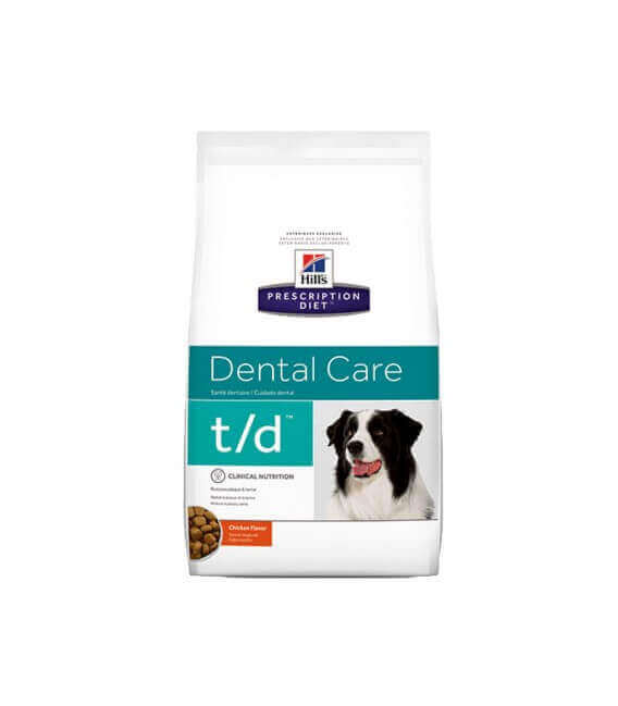 Croquettes T/D DENTAL CARE POULET Chien Sac 10 kg - Prescription Diet