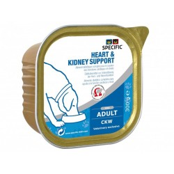 Specific Chien CKW HEART/KIDNEY SUPPORT Barquettes 6 X 300 g