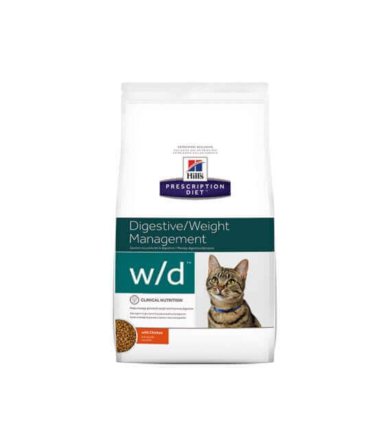 Croquettes W/D DIGESTIVE/WEIGHT MANAGEMENT POULET Chat Sac 5 kg - Prescription Diet