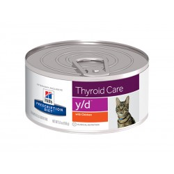Pâtée Y/D THYROID CARE Chat 24x156g - Prescription Diet