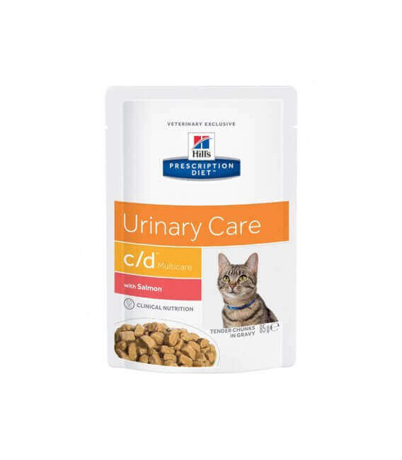 Pâtée C/D MULTICARE SAUMON Chat 12x85g - Prescription Diet