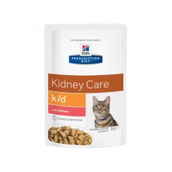 Sachets K/D KIDNEY CARE SAUMON Chat 12 x 85 g - Prescription Diet