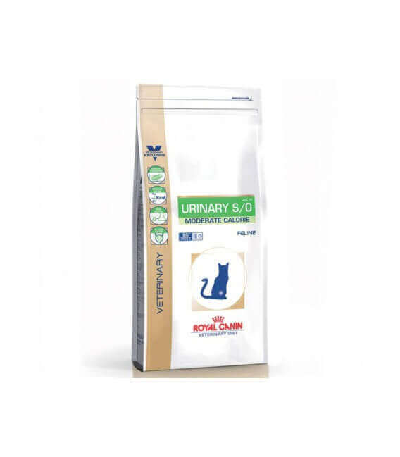 Croquettes URINARY S/O MODERATE CALORIE Chat Sac 9 kg - Veterinary Health Nutrition