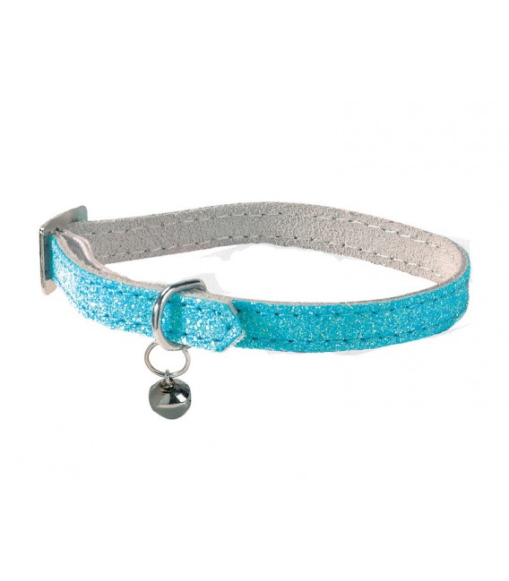 Collier PAILLETE BLEU Chat
