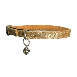 Collier Chat PAILLETE DORE 30 cm
