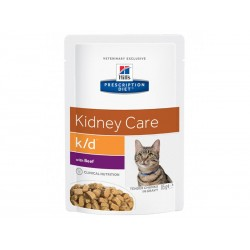 Pâtée K/D KIDNEY CARE BOEUF Chat 12x85g - Prescription Diet
