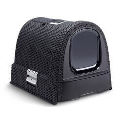 Maison de toilette Chat PETLIFE ANTHRACITE