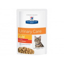 Pâtée C/D URINARY STRESS POULET Chat 12x85g - Prescription Diet