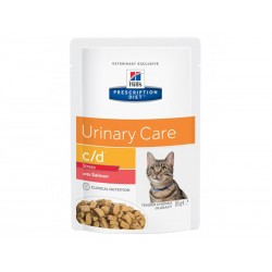 Sachets C/D URINARY STRESS SAUMON Chat 12 x 85 g - Prescription Diet
