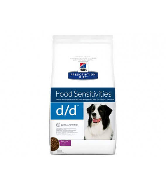 Croquettes D/D FOOD SENSITIVITIES CANARD-RIZ Chien Sac 5 kg - Prescription Diet