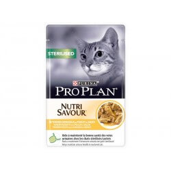 PROPLAN CAT STERILISED POUL 24POCHONS85G