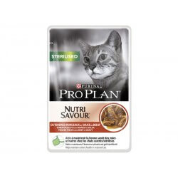 PROPLAN CAT STERILISED BOEUF 24POCHON85G