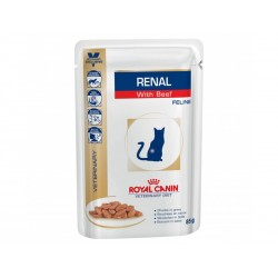 Sachets RENAL BOEUF 12 x 85 g Chat - ROYAL CANIN Veterinary Diet