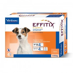 Solution EFFITIX SPOT-ON Petit Chien 4 pip.