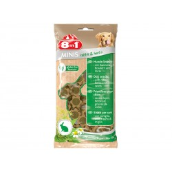 Friandises lapin/herbes Chien - 8IN1 Minis