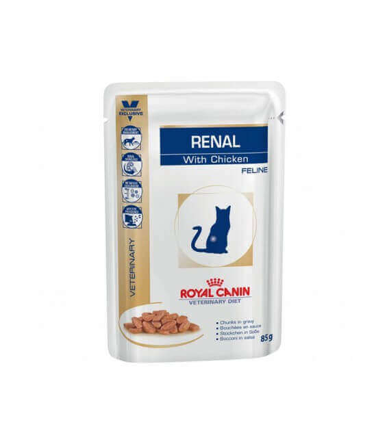 Sachets RENAL POULET 12 x 85 g Chat - ROYAL CANIN Veterinary Diet