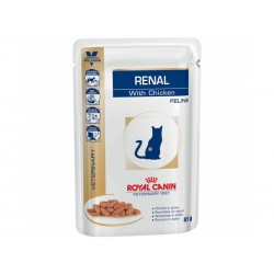 Pâtée RENAL POULET Chat 12x85g - Veterinary Diet
