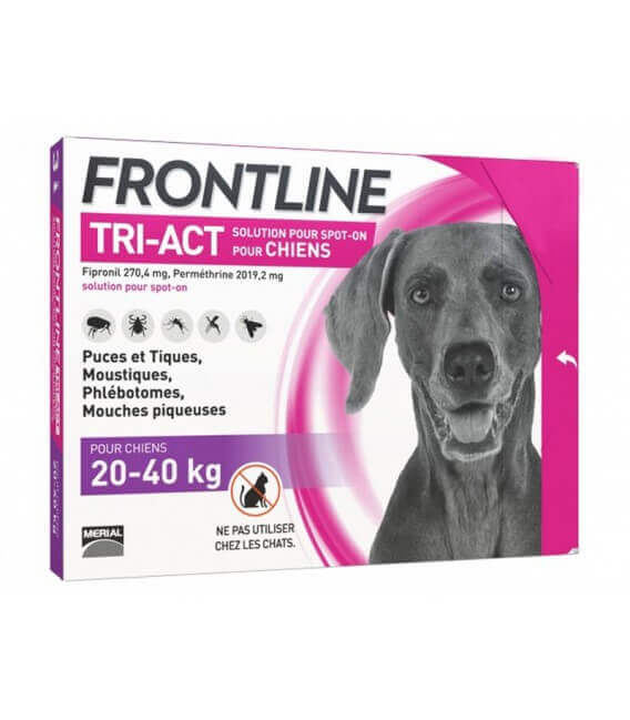 Solution TRI-ACT L Grand Chien 6 pip. - Frontline