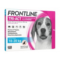Solution TRI-ACT M Chien Moyen 3 pip. - Frontline