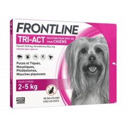 FRONTLINE TRI-ACT CHIEN XS 6 PIP.