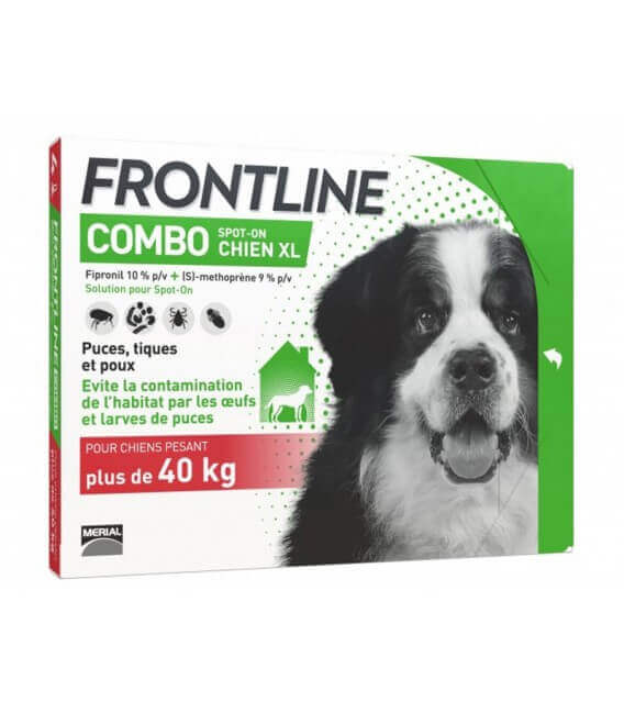 Solution COMBO SPOT-ON XL Chien 4 pip. - Frontline