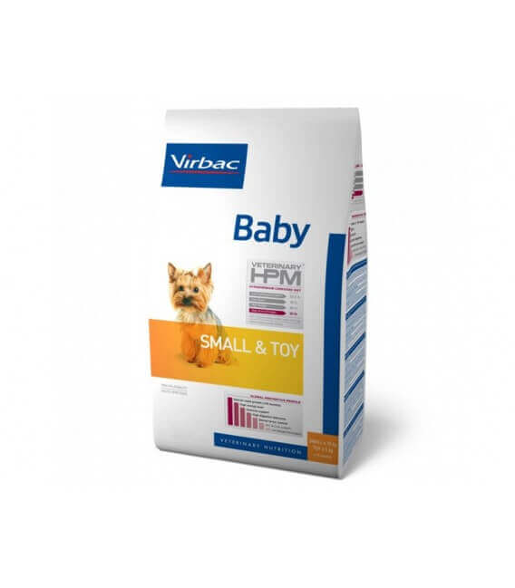 Croquettes BABY SMALL & TOY Chien Sac 3 kg - Veterinary HPM