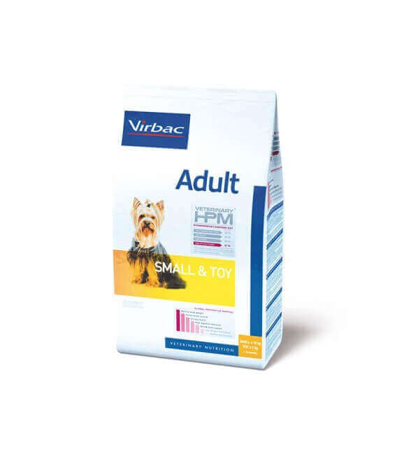 Croquettes ADULT SMALL & TOY Chien Sac 1,5 kg - Veterinary HPM