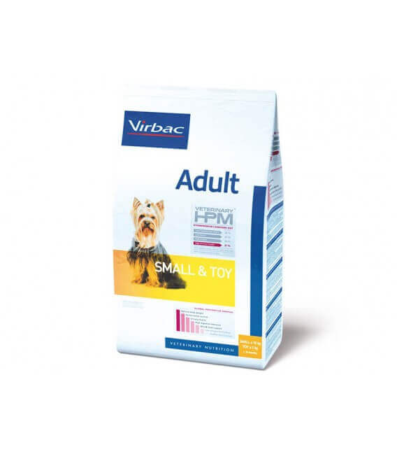 Croquettes ADULT SMALL & TOY Chien Sac 3 kg - Veterinary HPM