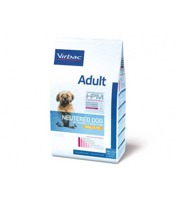 Croquettes ADULT NEUTERED SMALL & TOY Chien Sac 3 kg - Veterinary HPM