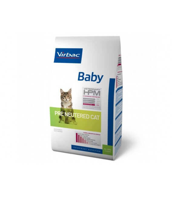 Croquettes BABY PRE NEUTERED Chat Sac 400 g - Veterinary HPM