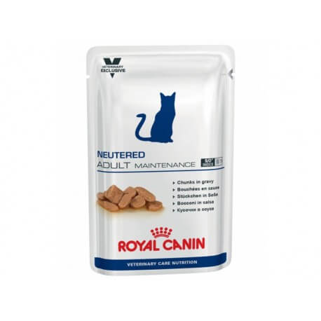 Veterinary Care Nutrition Chat NEUTERED ADULT MAINTENANCE Sachets 12 X 100 g