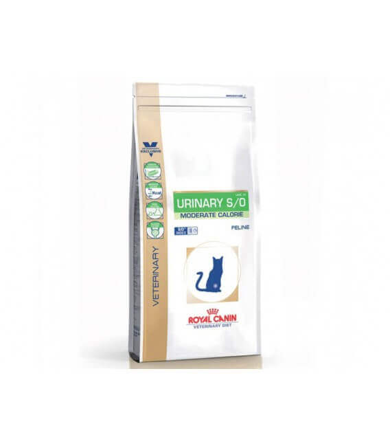 Croquettes URINARY S/O MODERATE CALORIE Chat Sac 7 kg - Veterinary Health Nutrition