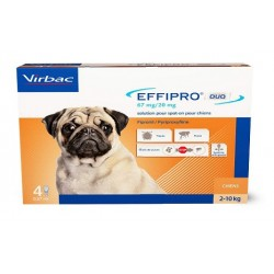 EFFIPRO DUO Petit Chien 2-10 kg Spot-on 4 pipettes