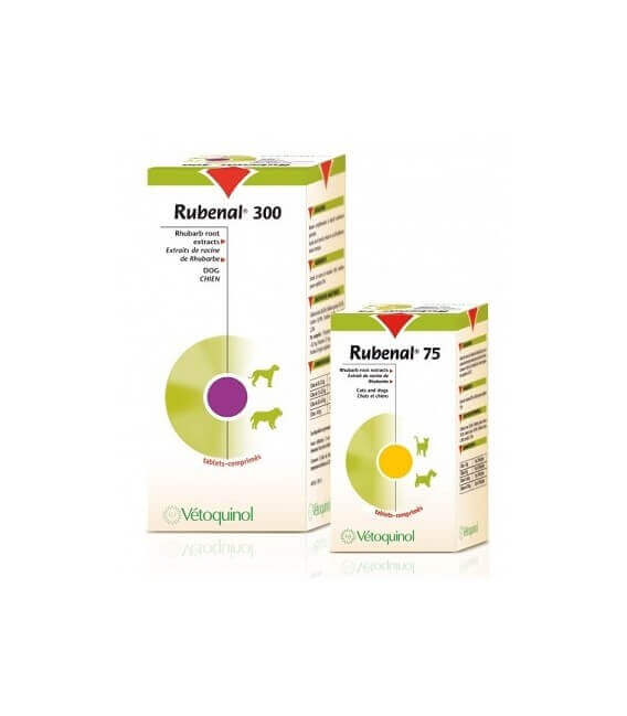 """Complément RUBENAL """"NF"""" 300 mg Chien 60 cps."""