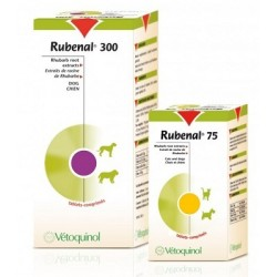 "Complément RUBENAL ""NF"" 300 mg Chien 60 cps."
