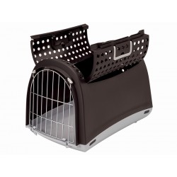 Cage de transport Chien Chat LINUS MARRON